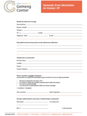 2021 04 26 Demande d'une déclaration de travaux