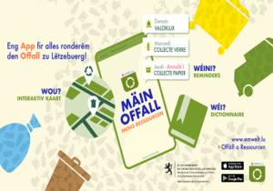 """Nouvelle application """"Mäin Offall - Meng Ressourcen"""""""